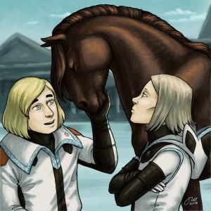 Detta är en häst